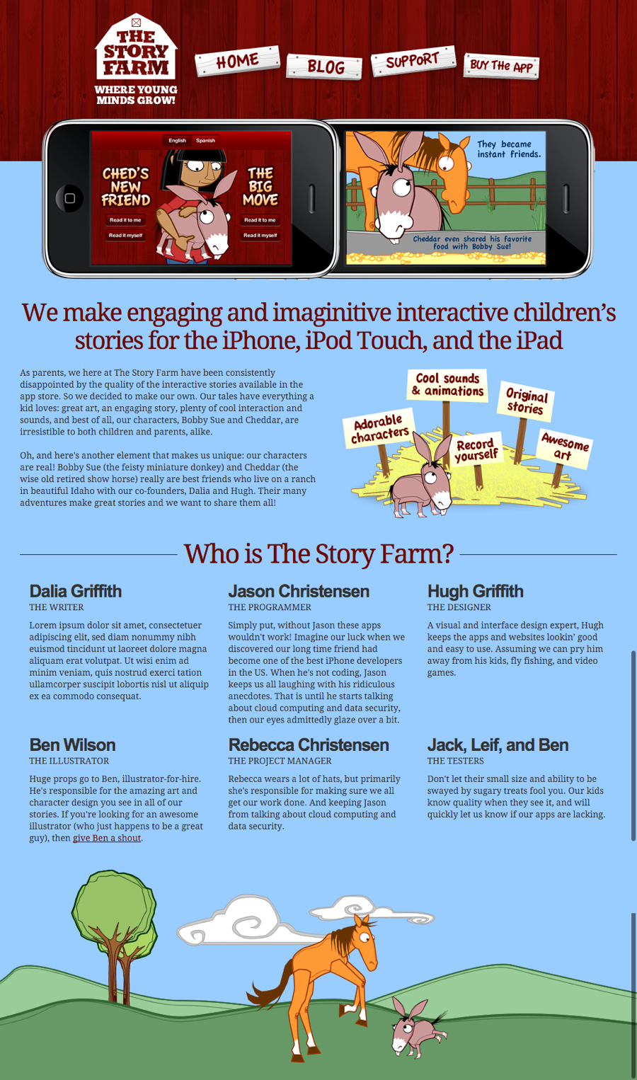 Image of The Story Farm website