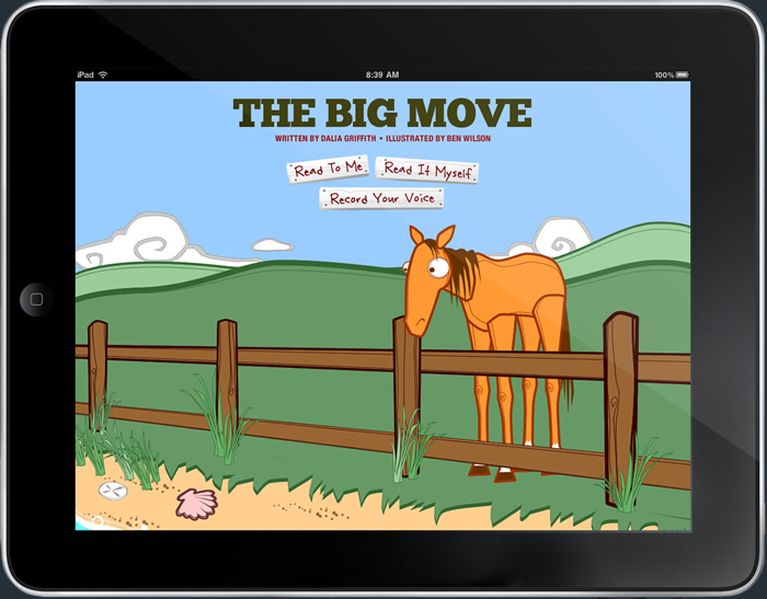 Image of a story page in The Story Farm iPad application